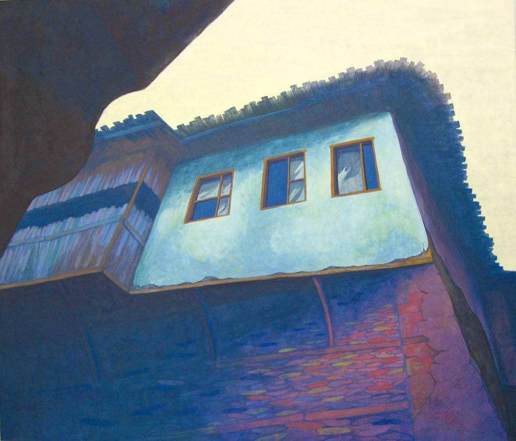 古の街  2015 size:P10(h45.5×w53.0cm) 紙本着彩 Japanese mineral pigment on japanese paper