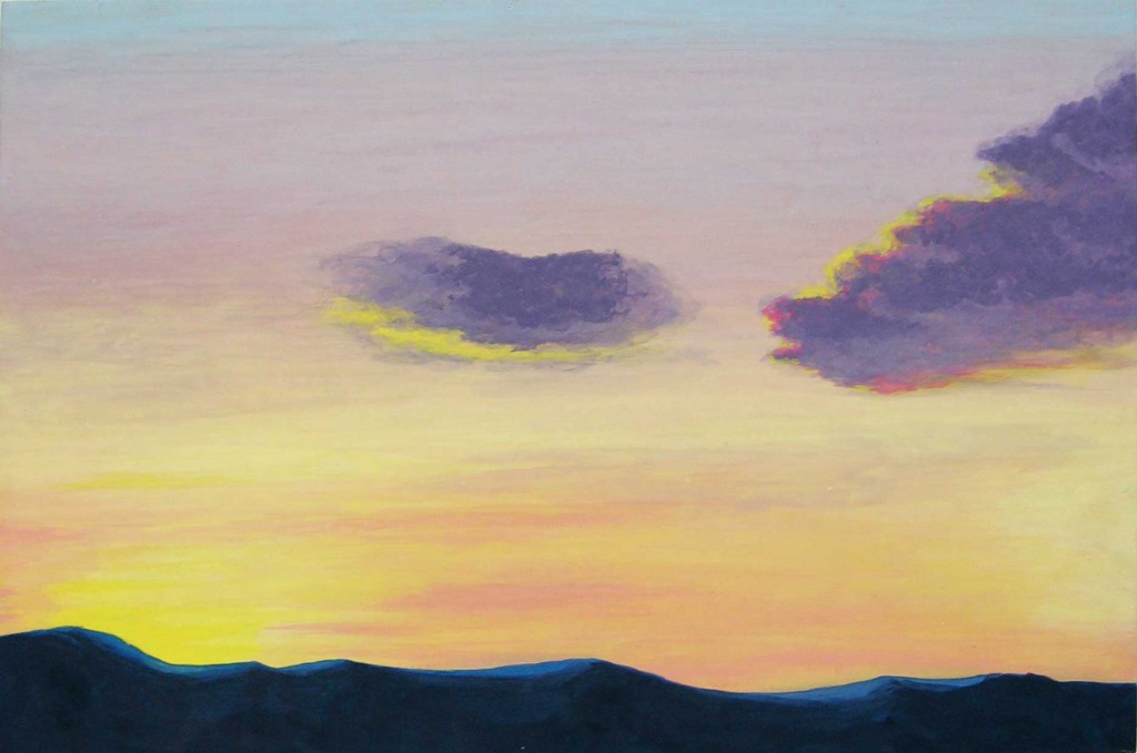 Sunrise  2013 size:P6(h27.3×w41.0cm) 紙本着彩 Japanese mineral pigment on japanese paper