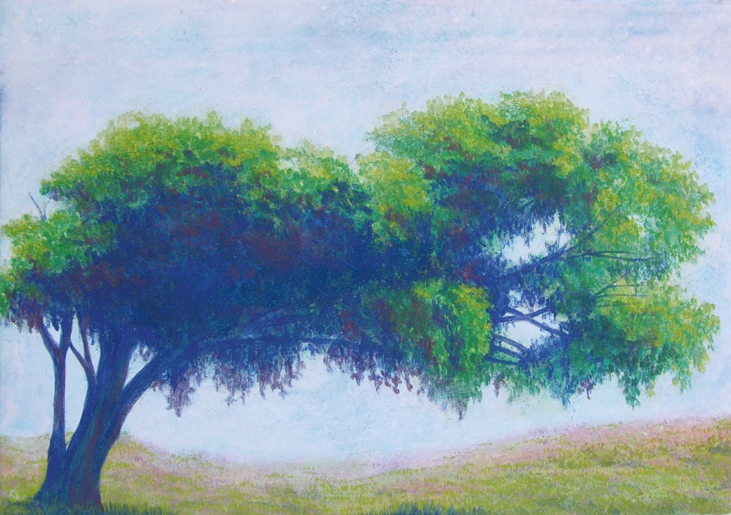 Big tree  2012 size:SM(h15.8×w22.7cm) 紙本着彩 Japanese mineral pigment on japanese paper
